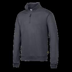 Sweatshirts med kort lynlås.